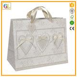 Bolsa de papel de lujo con la maneta Pringting de la cinta