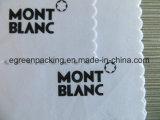 Ткань чистки объектива Microfiber высокого качества отрезанная цветком белая с черным логосом печати