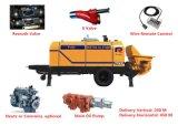 Bomba concreta portátil elétrica hidráulica de venda quente de bomba de pistão 55kw da manufatura da polia (HBT50.10.55S)