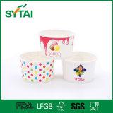 Ciotola di carta a gettare dell'insalata per alimenti a rapida preparazione con il coperchio