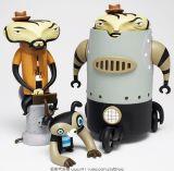 Het grappige Stuk speelgoed die van de Panda Blauwe Kleren met Uitloper (cb-PFT010) dragen a