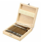 """13PCS de titanio recubierto de 1/4"""" vástago 6 ~ 35mm plana de madera Spade taladro plano Conjunto de bits"""