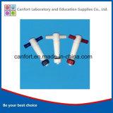 Valves en PTFE à laboratoire en plastique, instrument de laboratoire