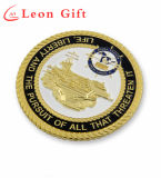 Высокое качество пользовательских нас военного флота Gold металлические монеты