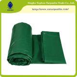 Bâche de protection lourde de bâche de protection imperméable à l'eau de PVC de bâche de protection stratifiée par vert