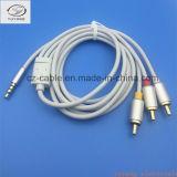 3 RCA aan 3.5mm de StereoKabel van de Stop Audio/AV/RCA/Draad/Lijn, Mannetje aan Mannetje