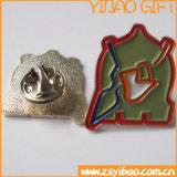 Broche émaillée personnalisée bon marché avec plaqué or (YB-LP-37)