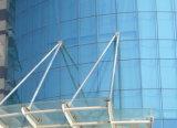 Farbiges reflektierendes Glas für das Aufbauen der Curtainer Wand