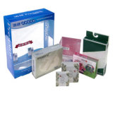 Rectángulo cosmético transparente exquisito del empaquetado plástico de los productos de cuidado de piel de la manera