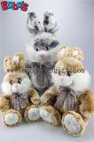 """9.5 """" 포옹 파란 꽃 직물 패치 Bos1146를 가진 토끼에 의하여 채워지는 장난감 동물"""
