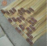Clip transparente Hair Extension Prix Bon Marché brésilien de cheveux humains vierge