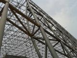 Grande piscina do frame do metal com tampa do telhado
