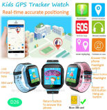 GPS van de Jonge geitjes van het Scherm van de aanraking de Telefoon van het Horloge van de Drijver met Flitslicht (D26)