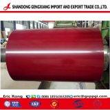 Красный цвет листа PPGI оцинкованной стали с покрытием для строительных материалов