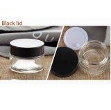 Kosmetisches verpackenglas mit Aluminiumschutzkappe (NBG18)