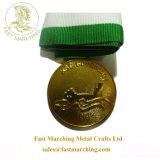 工場価格金属メダルレプリカをめっきする安くおかしい賞の円形浮彫り