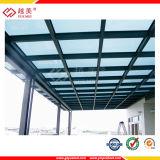Color grueso del precio 1.2m m Transparant de la hoja del material para techos del policarbonato