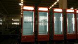 Refrigerador comercial da bebida da porta de vidro/refrigerador bebendo/refrigerador do Showcase/verticalmente refrigerador