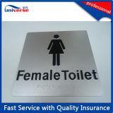 Panneaux de toilette tactile en plastique personnalisés