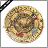 Custom 3D de dos monedas para el recuerdo (BYH-10299)