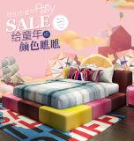 매우 다채로운 귀여운 아이 침실 침대