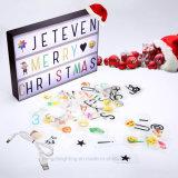 Jeteven 가벼운 상자 표시 상자 A4 영화 우편함 LED 메시지 박스