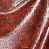 Couro sintético do PVC Microfiber para fazer o sofá, matéria têxtil Home (1609#)
