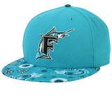 DIYの刺繍が付いている青い綿のHip Hopの急な回復の帽子