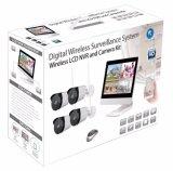 2.0MP Waterproof a câmara de segurança do CCTV do jogo do IP NVR de WiFi com monitor do LCD