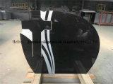 Lápide preta do granito de Shanxi com os lancil para o mercado europeu