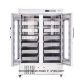 refrigerador Bbr do saco do sangue da corrente fria do congelador do grau de 1000L 2-4