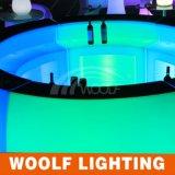 Iluminar acima o contador da barra redonda/o partido Furniture& da barra para a tabela da barra do diodo emissor de luz
