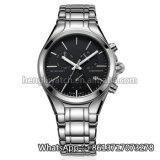 新式の水晶方法ステンレス鋼の腕時計HlBg99