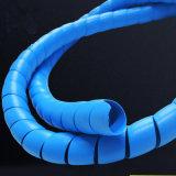 O PVC/PP/PE/PA enrolado em espiral flexível da tampa de borracha do protector para cabo