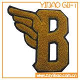 훈장 선물 (YB PH 01)를 위한 주문 편지 셔닐 실 패치