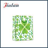 Cuatro bolsos impresos de papel del regalo del diseño 4c de los tréboles de la hoja que hacen compras