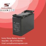 Batterie d'acide de plomb avant de Teminal Seales 12V 55ah pour le système de télécommunication