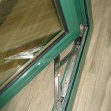 Guichet en aluminium enduit K03012 de tissu pour rideaux de profil de poudre blanche de couleur