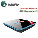 H96 PRO S912 caixa da tevê de Amlogic 4kx2K Koid do Android 6.0