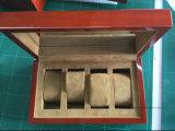 Contenitore di vigilanza di legno solido lucido di vendite della lacca calda del piano