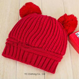 New Fashion Lovely Dual Ball Knit Sweater Cap