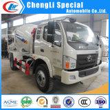 caminhão cúbico do misturador concreto dos medidores de 6-Wheel Forland 3.5 pequenos para a venda