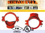 FM aprobado por UL mecánica de hierro dúctil Tee de salida de rosca