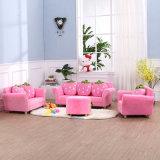 Mobília de quarto Tecido de coral de veludo Fezes de pé Otomano