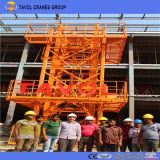 6ton Qtz80-5513上キットのタワークレーンの構築のタワークレーン