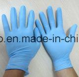 Cleanroom, Werkstatt-Wegwerfnitril-Prüfungs-Handschuh-Puder und Puder geben frei
