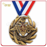Metal concorrência Custom 3D esculpidos em execução Medalha de adjudicação