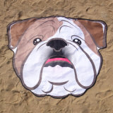 Ééndelige Zachte Microfiber 155*125cm Creatieve Leuke Handdoek van het Strand van de Hond