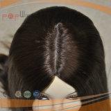 Parrucca superiore di seta bianca delle donne della chiusura del merletto, parrucca respirabile superiore delle donne della pelle dei capelli umani