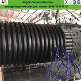 Le PEHD PE mur creux bobinage de l'Extrusion de tuyaux de drainage de ligne de production